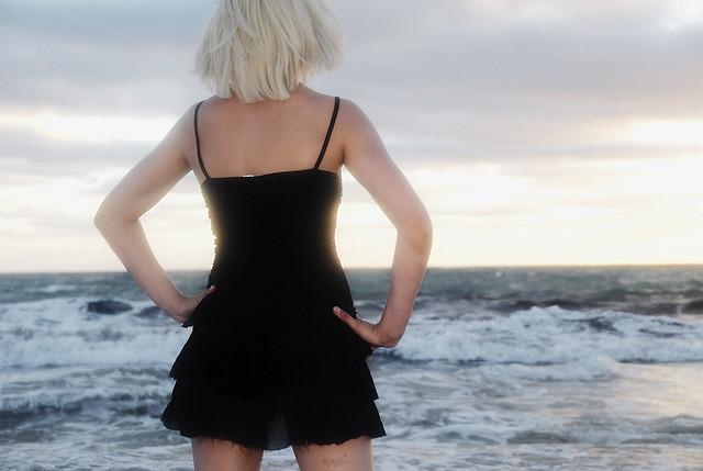 She wore a little black dress