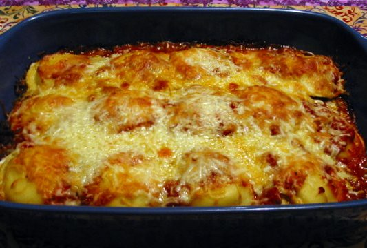 """Do-Ahead Ravioli-Sausage Lasagna"""