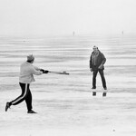 Baseball on Lake Mendota ice
