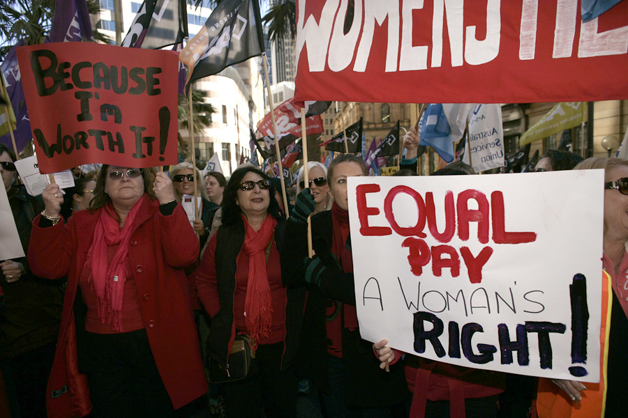 an equal pay day protest