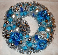 art, christmas decoration, brooch, wreath, bead,