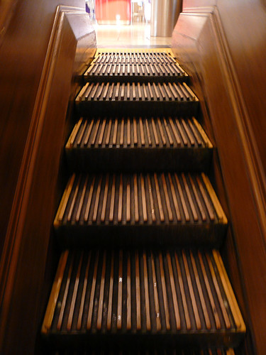wooden escalators, Macy's Herald Square, NYC