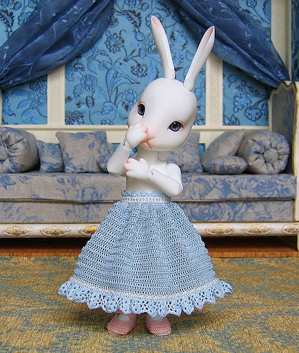 Biscuit's House Crocheted Petticoat with Entredeux