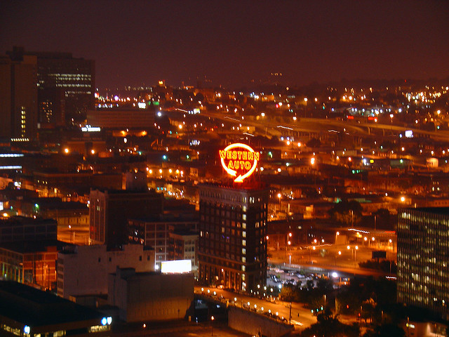 Western Auto Building At Night 3 Aug 2007 Flickr