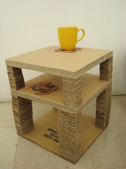 corrigated cardboard coffee table flickr photo sharing