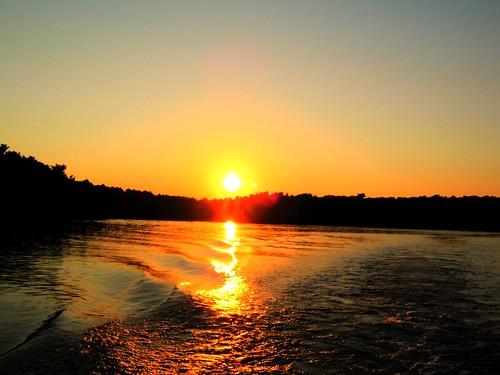 sunset sky sun lake reflection boston dusk capecod sandwich spectaclepond trianglepond