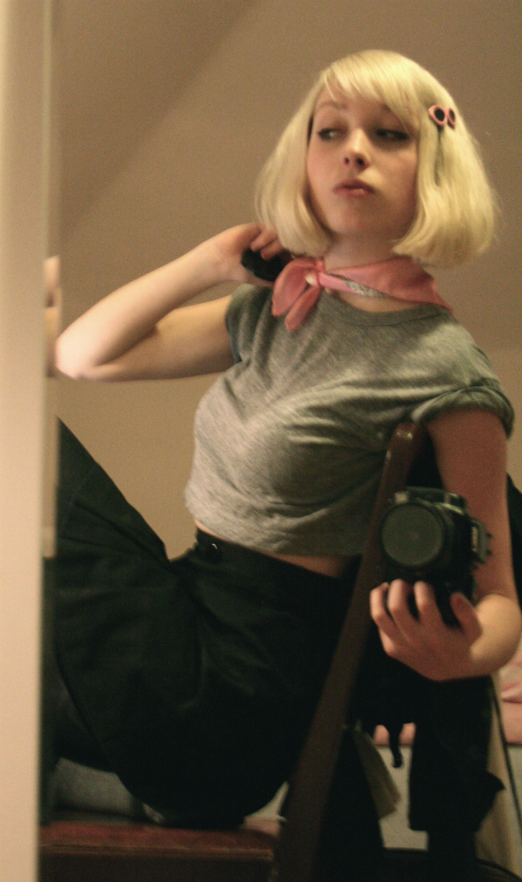 posing.