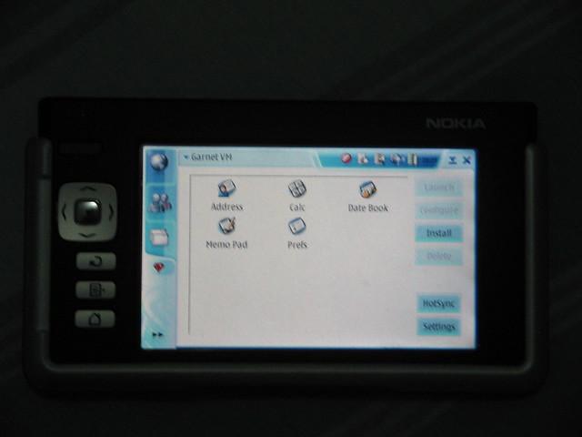 Garnet (PalmOS) VM no Nokia 770 com IT OS2007HE (1)