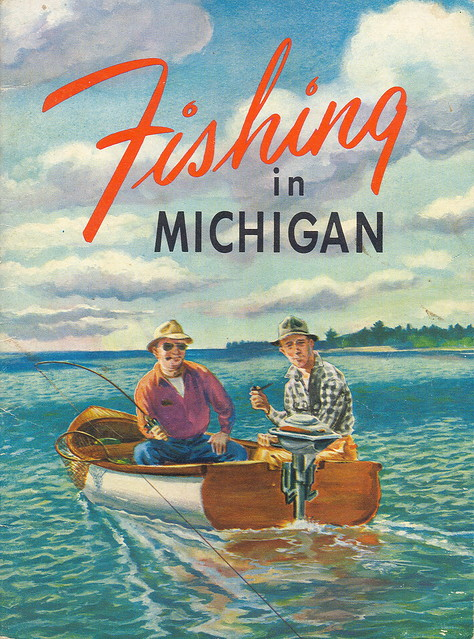 Fishing 1950s version 2 michigan dnr collectible fisheries for Mi dnr fishing report