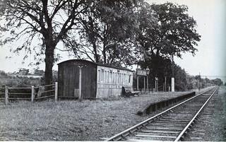 Cutlers Green Halt on the Elsenham to Thaxted Light Railway