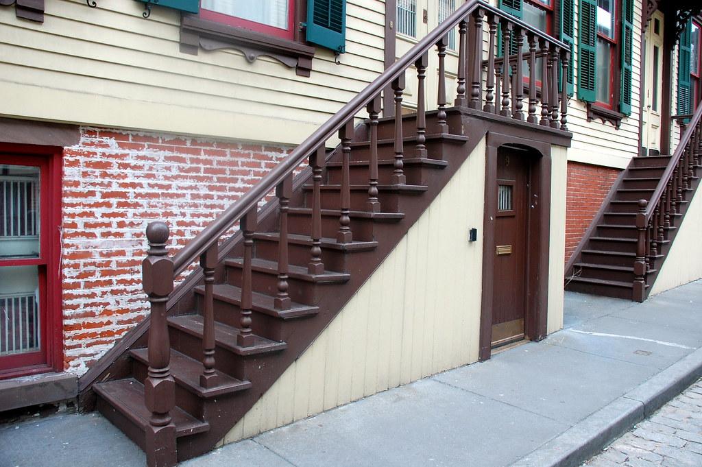 Sylvan Terrace: Stairs with mini doors