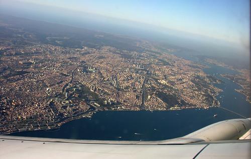 Boszporusz Malév ablakból