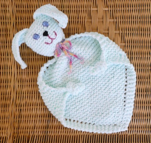 Bunny blanket buddy Knitted with double strands of Stylecr? Flickr - Phot...