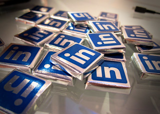 LinkedIn chocolates by Nan Palmero