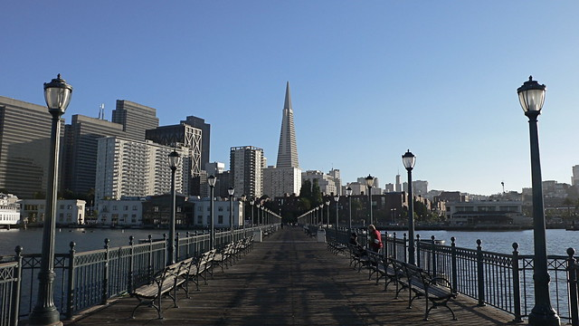 Embarcadero view of SF skyline