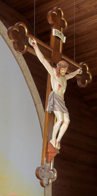 Saint James Roman Catholic Church, in Catawissa, Missouri, USA - crucifix.jpg