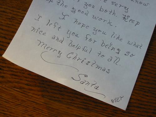 Letter From Santa 2007