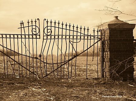 Old Gate For The Calvary Cemetery Shawnee Oklahoma