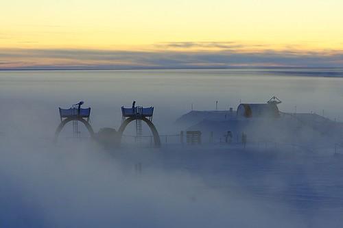 Téléscope dans la brume