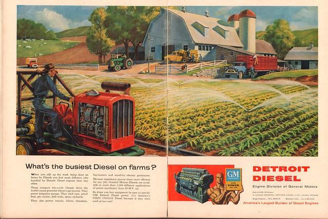 1956 General Motors Detroit Diesel Advertisement Time April 2 1956
