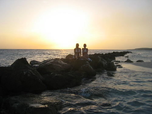 ocean sunset vacation beach water view curacao