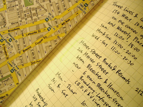 new york city moleskine: bookstore details