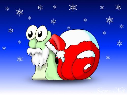 escargot de Noël
