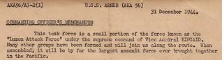 Luzon Invasion - Commander's Notes (detail)