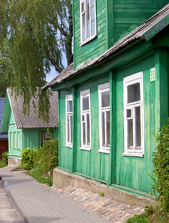 Wooden houses in Trakai, Lithuania