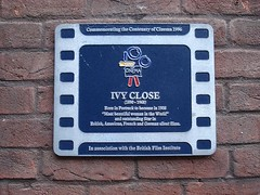 Photo of Ivy Close film cell plaque