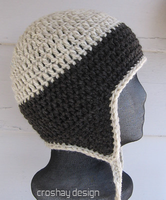 flyflap cap crocheted earflap hat Flickr - Photo Sharing!
