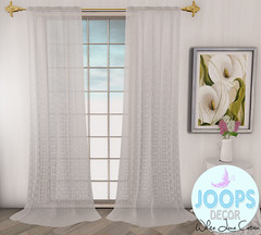 Joops Decor - White Lace Curtain.