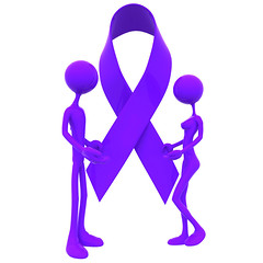 3D Cause Awareness Ribbon