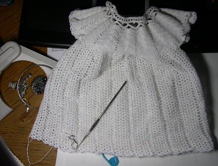 Christening gown, cap and booties - Crochet Me