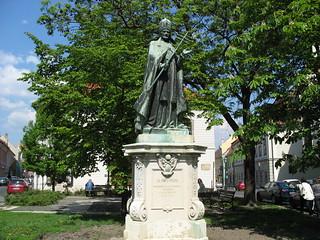 Image de Statue of Pope Innocent XI. pope statue budapest springbreak buda varhegy