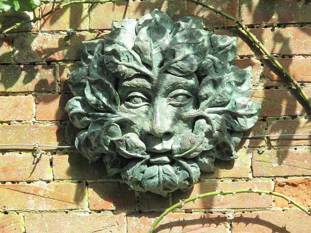Green Man. Cast bronze.