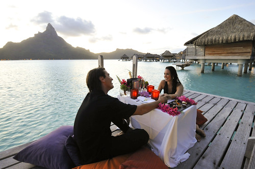 InterContinental Bora Bora Resort & Thalasso Spa romantic dinner on your bungalow terrace