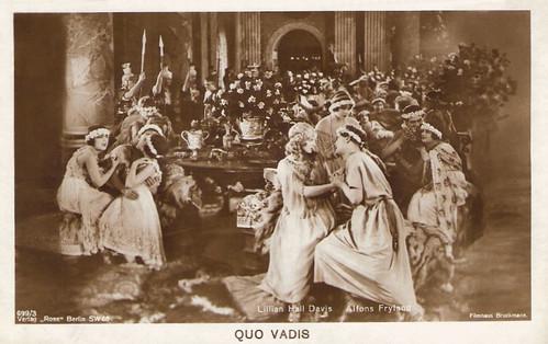 Alphons Fryland and Lilian Hall-Davis in Quo vadis? (1924)