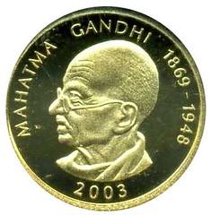 2003 Samoa Ghandi coin