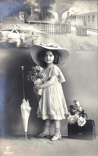 Vintage Postcard ~ Sweet Girl