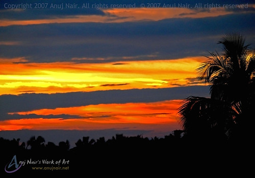 sunset trivandrum thiruvananthapuram