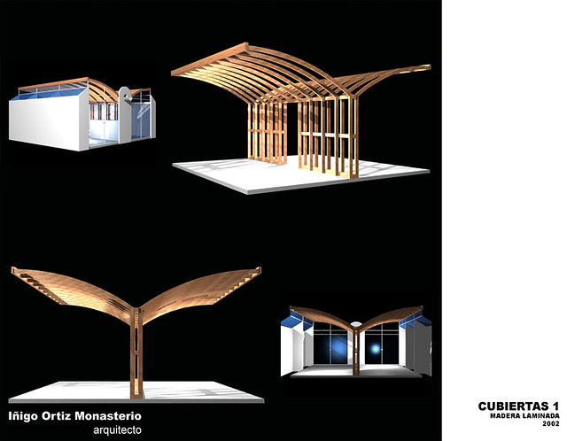 Cubiertas 1 ensayos sobre cubiertas prefabricadas de madera laminada flickr photo sharing - Cubiertas de madera laminada ...