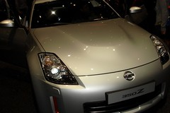automobile, automotive exterior, vehicle, automotive design, nissan 350z, auto show, bumper, land vehicle,