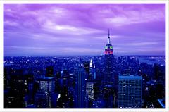 Twilight over New York, NY