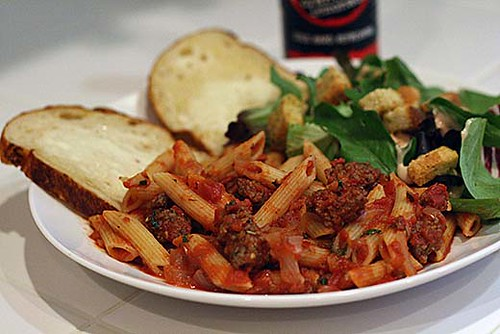 Penne Pasta with Meat Sauce | Flickr - Photo Sharing!