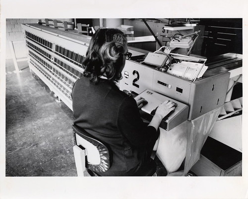 Woman Working in a Mail Processing Center