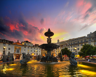 Rossio At Dusk