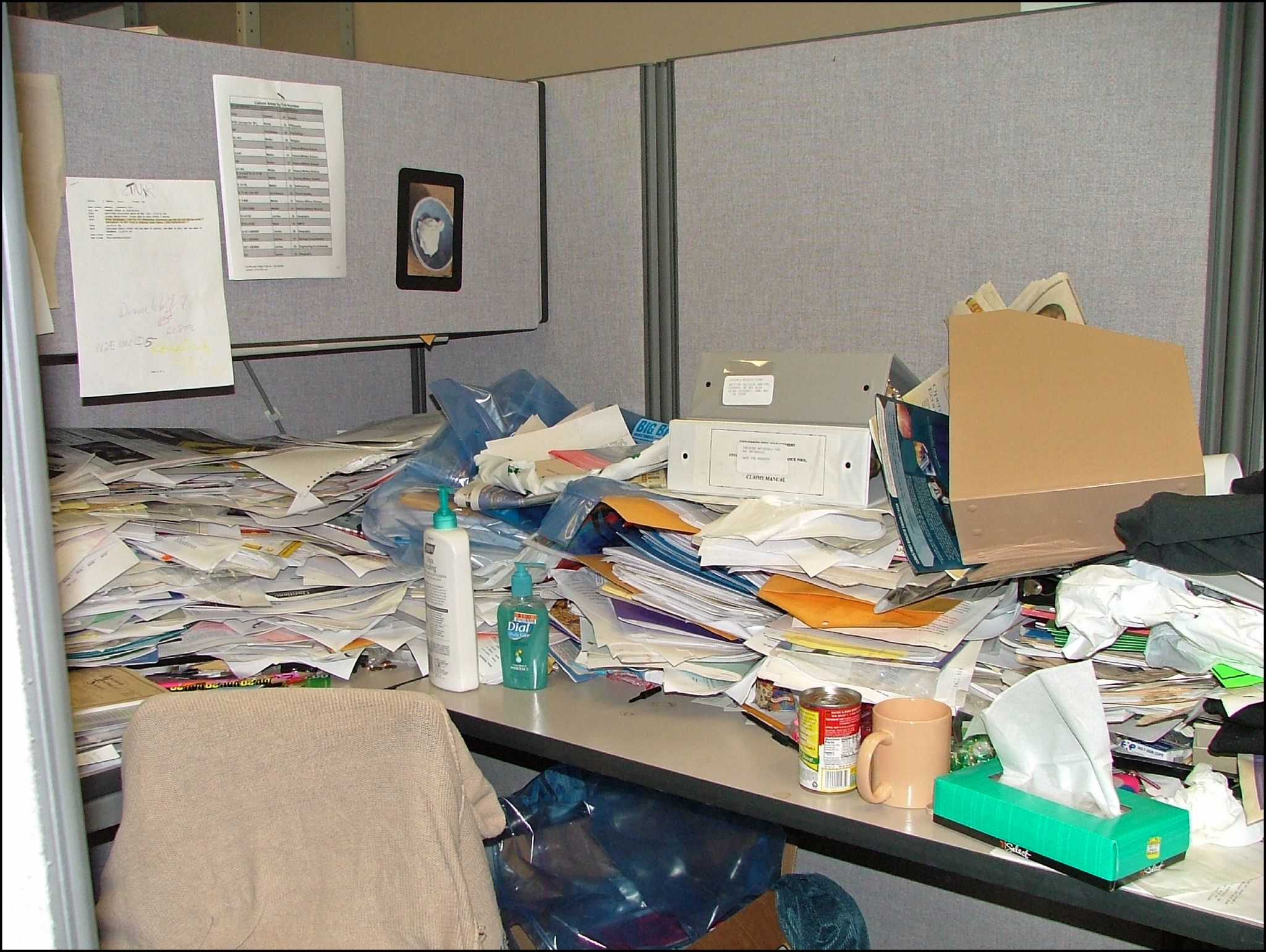 Messy Office Cubicle Flickr Photo Sharing