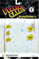 "DARK HORSE COMICS::   ""Flaming Carrot"" Action Figure ..card back i (( 1999 ))"
