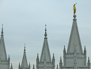 Image of Restoration of the Aaronic Priesthood. friends utah spires roadtrip saltlakecity mormon areal ysa templesquare homies lds moroni saltlaketemple angelmoroni